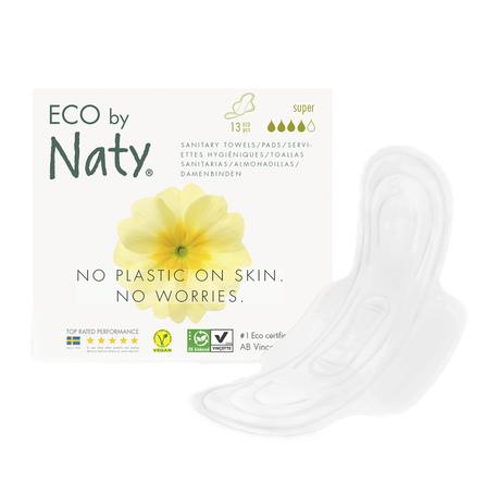 Podpaski, ze skrzydełkami, Super, 13 szt., Eco by Naty (1)