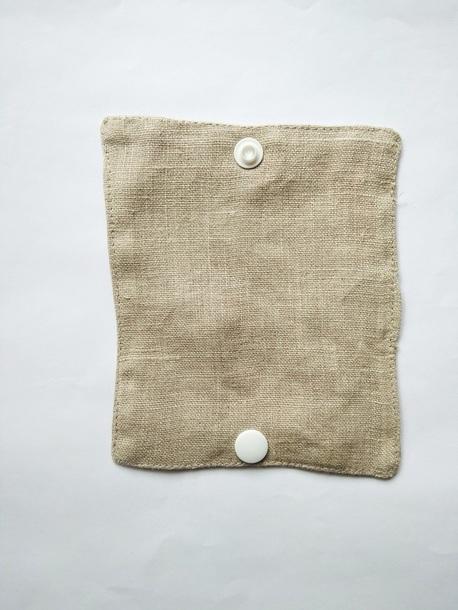 Wielorazowy papier toaletowy/pakiet myjek, Len naturalny, Dziobak (6)