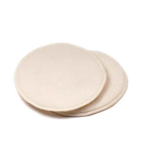 Wkładki laktacyjne z wełny merynosów, 100% czysta, organiczna wełna, Rozmiar Mini, średnica 9 cm, 1 para, LANACare (1)