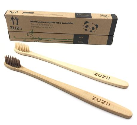 Szczoteczka do zębów, bambusowa, dla dzieci, kolor włosia: beżowy (5)