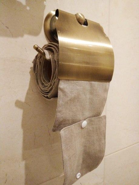 Wielorazowy papier toaletowy/pakiet myjek, Len naturalny, Dziobak (3)