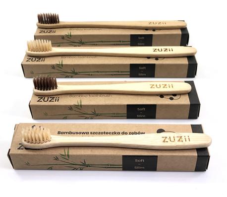 Szczoteczka do zębów, bambusowa, dla dzieci, kolor włosia: beżowy (4)