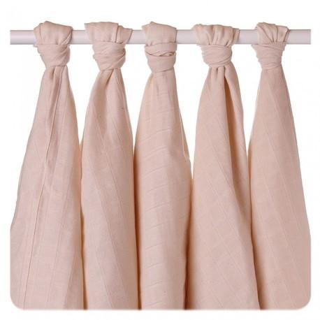 Pieluszki muślinowe z bawełny organicznej 70x70 - 5 Szt. (1)
