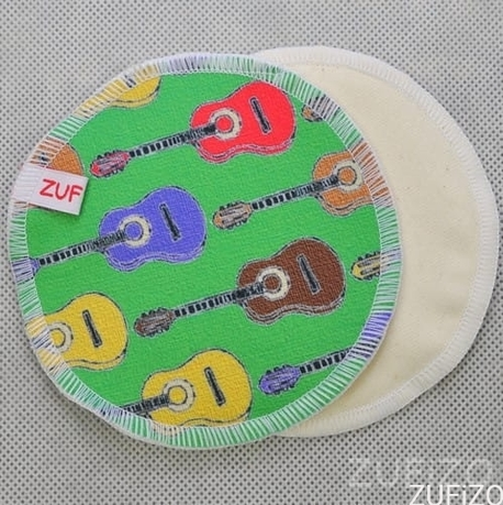 Wkładki laktacyjne, wielorazowe, Kolorowe gitary, ZUFiZO (1)