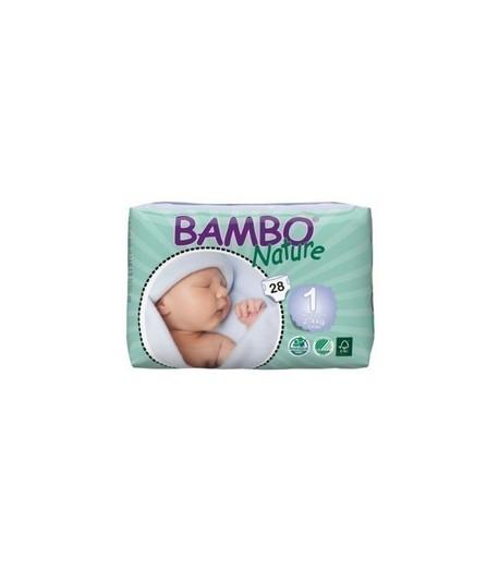 Ekologiczne Pieluszki Jednorazowe (1) Bambo Nature Newborn (2-4 kg) Opak. 28 szt. (1)
