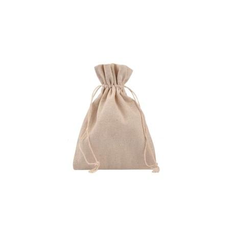 Lniany woreczek do nalewek, na zakupy, na podpaski wielorazowe, 10x14 cm (1)