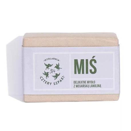 Delikatne mydło MIŚ z wegańską lanoliną, 110 g, Cztery Szpaki (3)