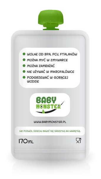 Saszetka wielorazowa na pokarm 170 ml, 1 szt. (2)