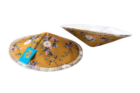 Wkładki laktacyjne, wielorazowe, YELLOW FLOWERS, Mommy Mouse (1)